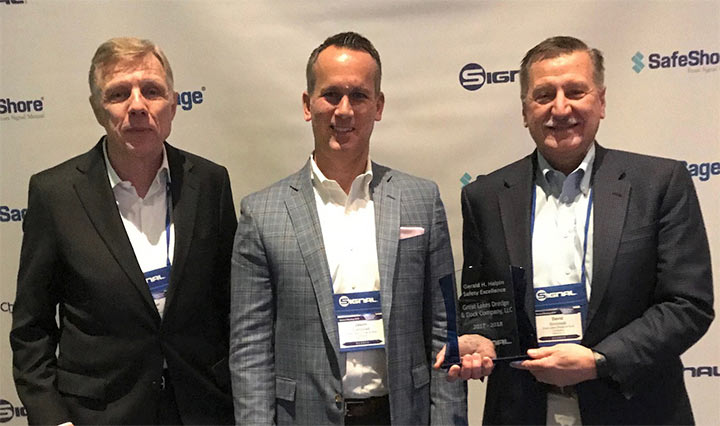 Great Lakes Dredge and Dock Honored by Signal Mutual for 2018 Safety Excellence Award