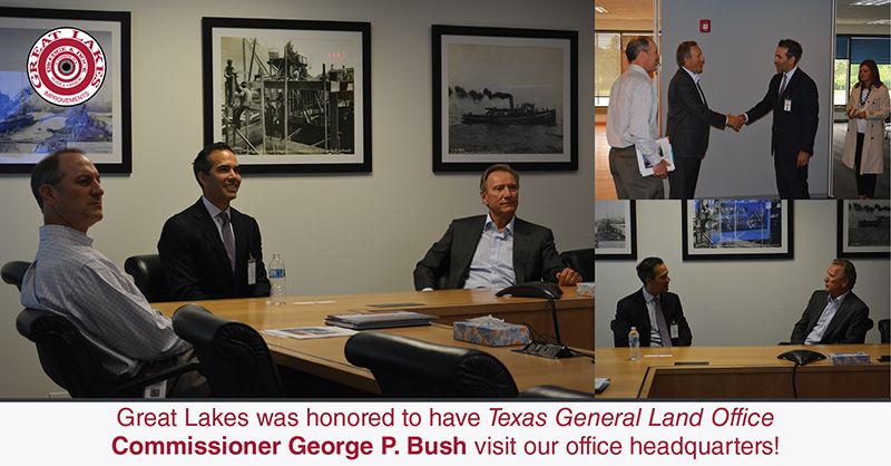 Texas General Land Office Commissioner George P. Bush Visits Great Lakes Headquarters – Oak Brook, IL